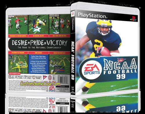 NCAA Football 99 - Sony PlayStation 1 PSX PS1 - Empty Custom Case
