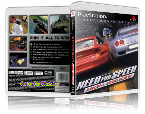 Need for Speed High Stakes - Sony PlayStation 1 PSX PS1 - Empty Custom Case