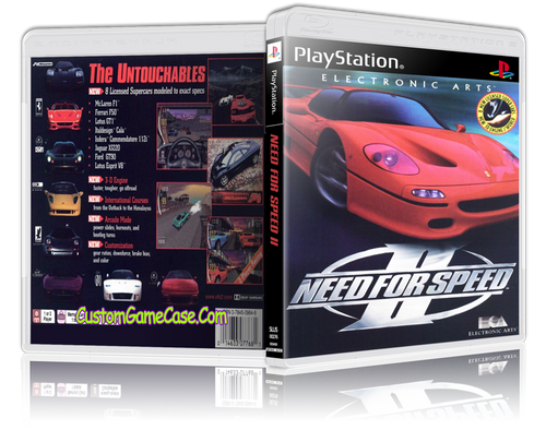 Need for Speed 2 - Sony PlayStation 1 PSX PS1 - Empty Custom Case
