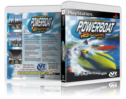 Powerboat Racing - Sony PlayStation 1 PSX PS1 - Empty Custom Case