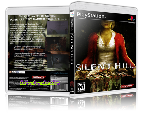 Silent Hill - Sony PlayStation 1 PSX PS1 - Empty Custom Case