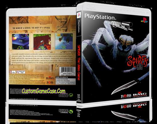 Spider - Sony PlayStation 1 PSX PS1 - Empty Custom Case