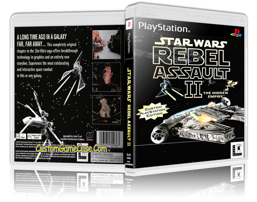 Star Wars Rebel Assault II - Sony PlayStation 1 PSX PS1 - Empty Custom Case
