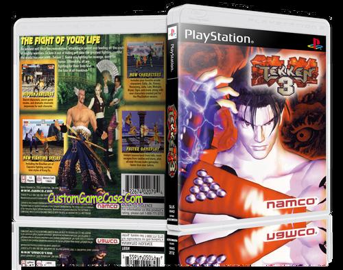 Tekken 3 - Sony PlayStation 1 PSX PS1 - Empty Custom Case