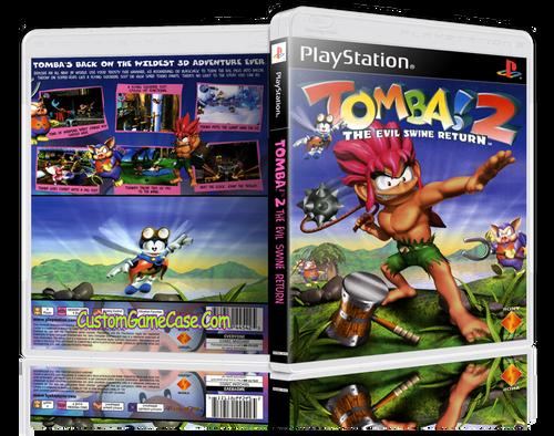 Tomba! 2 - Sony PlayStation 1 PSX PS1 - Empty Custom Case