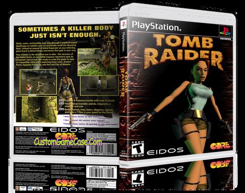 Tomb Raider - Sony PlayStation 1 PSX PS1 - Empty Custom Case