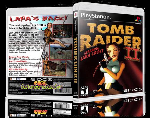 Tomb Raider 2 - Sony PlayStation 1 PSX PS1 - Empty Custom Case