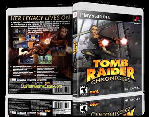 Tomb Raider 5 Chronicles - Sony PlayStation 1 PSX PS1 - Empty Custom Case