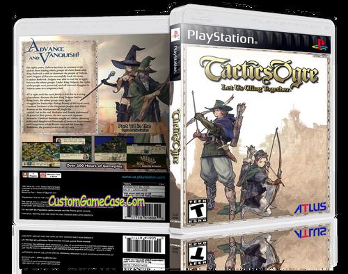 Tatics Ogre - Sony PlayStation 1 PSX PS1 - Empty Custom Case
