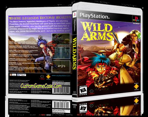 Wild Arms - Sony PlayStation 1 PSX PS1 - Empty Custom Case