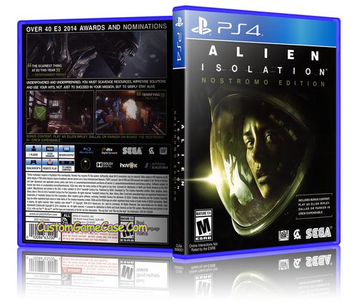 Alien Isolation - Sony PlayStation 4 PS4 - Empty Custom Replacement Case