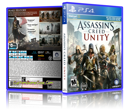 Assassins Creed Unity - Sony PlayStation 4 PS4 - Empty Custom Replacement Case