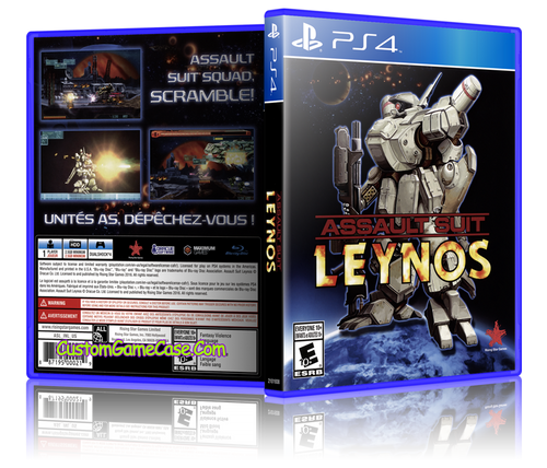 Assault Suit Leynos - Sony PlayStation 4 PS4 - Empty Custom Replacement Case