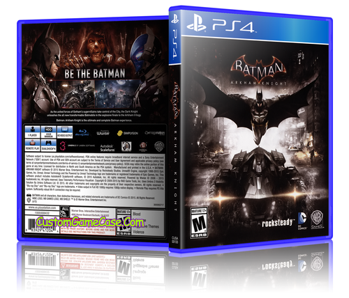 Batman Arkham Knight - Sony PlayStation 4 PS4 - Empty Custom Replacement Case
