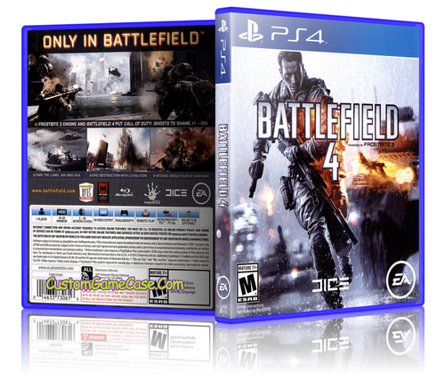 Battlefield 4 - Sony PlayStation 4 PS4 - Empty Custom Replacement Case