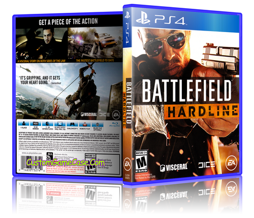 Battlefield Hardline - Sony PlayStation 4 PS4 - Empty Custom Replacement Case