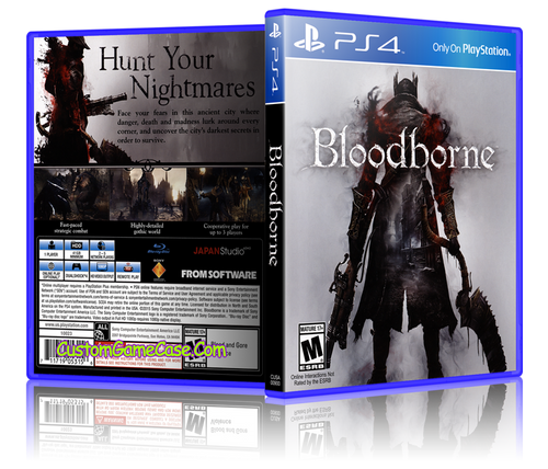Bloodborne - Sony PlayStation 4 PS4 - Empty Custom Replacement Case