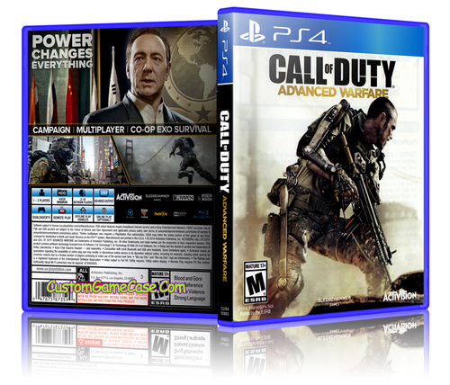 Call of Duty Advanced Warfare - Sony PlayStation 4 PS4 - Empty Custom Replacement Case