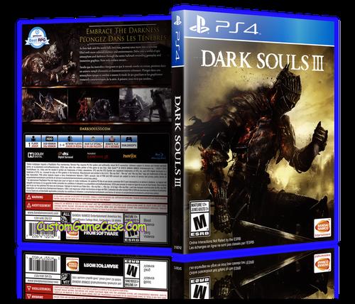 Dark Souls III - Sony PlayStation 4 PS4 - Empty Custom Replacement Case