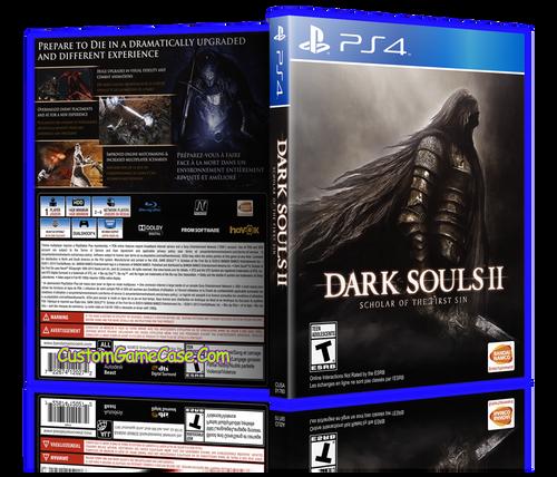 Dark Souls II - Sony PlayStation 4 PS4 - Empty Custom Replacement Case