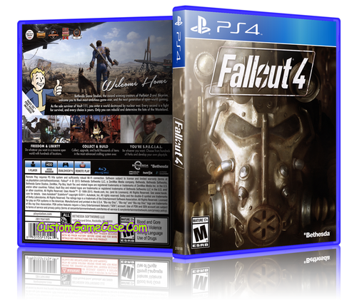 Fallout 4 - Sony PlayStation 4 PS4 - Empty Custom Replacement Case