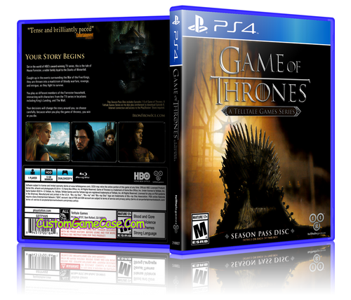 Game of Thrones - Sony PlayStation 4 PS4 - Empty Custom Replacement Case
