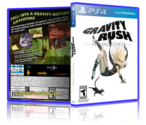 Gravity Rush - Sony PlayStation 4 PS4 - Empty Custom Replacement Case