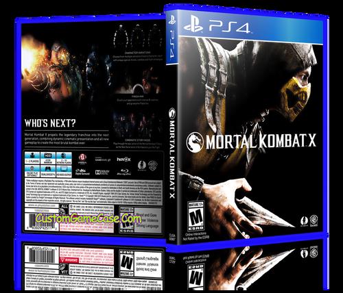 Mortal Kombat X - Sony PlayStation 4 PS4 - Empty Custom Replacement Case