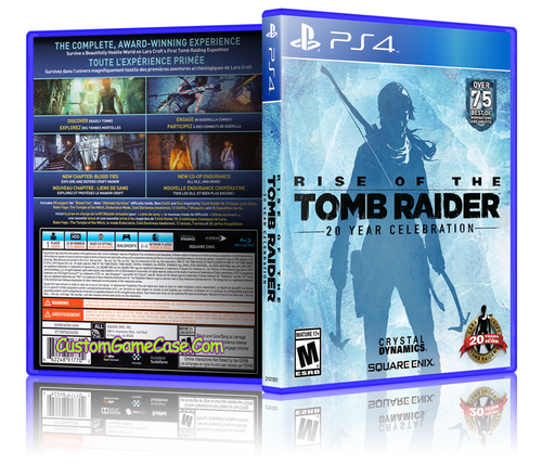 Rise of the Tomb Raider - Sony PlayStation 4 PS4 - Empty Custom Replacement Case