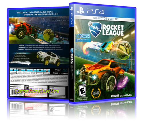 Rocket League - Sony PlayStation 4 PS4 - Empty Custom Replacement Case