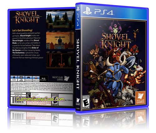 Shovel Knight - Sony PlayStation 4 PS4 - Empty Custom Replacement Case