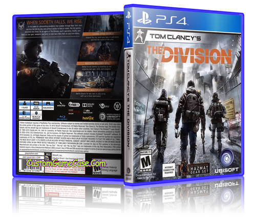 Tom Clancy's The Division - Sony PlayStation 4 PS4 - Empty Custom Replacement Case