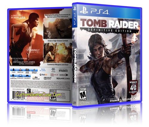 Tomb Raider - Sony PlayStation 4 PS4 - Empty Custom Replacement Case