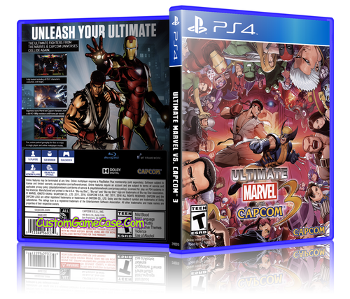 Ultimate Marvel vs Capcom 3 - Sony PlayStation 4 PS4 - Empty Custom Replacement Case