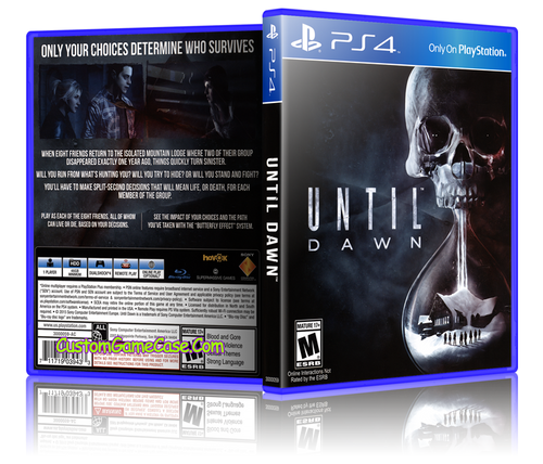 Until Dawn - Sony PlayStation 4 PS4 - Empty Custom Replacement Case