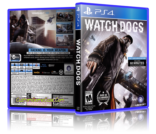Watch Dogs - Sony PlayStation 4 PS4 - Empty Custom Replacement Case