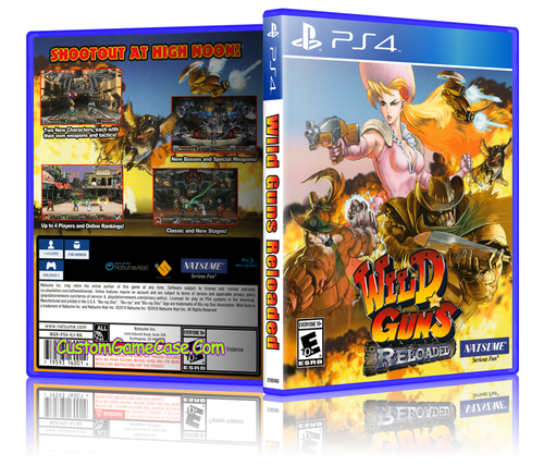 Wild Guns Reloaded - Sony PlayStation 4 PS4 - Empty Custom Replacement Case