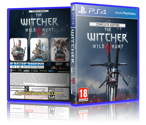 The Witcher Wild Hunt - Sony PlayStation 4 PS4 - Empty Custom Replacement Case