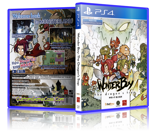 WonderBoy The Dragon's Trap - Sony PlayStation 4 PS4 - Empty Custom Replacement Case