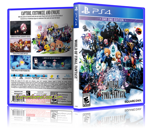 World of Final Fantasy - Sony PlayStation 4 PS4 - Empty Custom Replacement Case