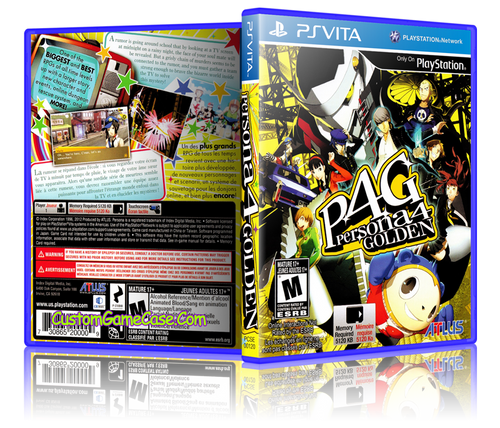 Persona 4 Golden - Sony PlayStation PS Vita - Empty Custom Replacement Case