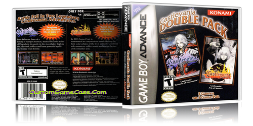 Castlevania Double Pack - Gameboy Advance GBA - Empty Custom Replacement Case