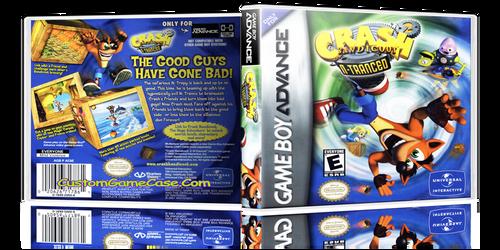 Crash Bandicoot 2 N-Tranced  - Gameboy Advance GBA - Empty Custom Replacement Case