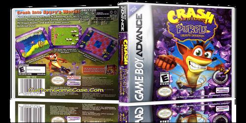 Crash Bandicoot Purple Riptos Rampage - Gameboy Advance GBA - Empty Custom Replacement Case