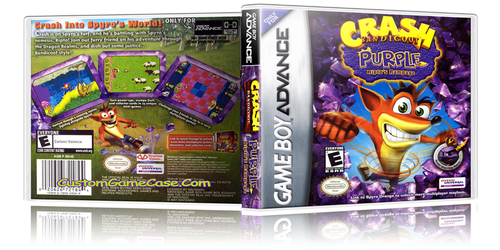 Crash Bandicoot Purple Riptos Rampage - Gameboy Advance GBA - Empty Custom Replacement Case
