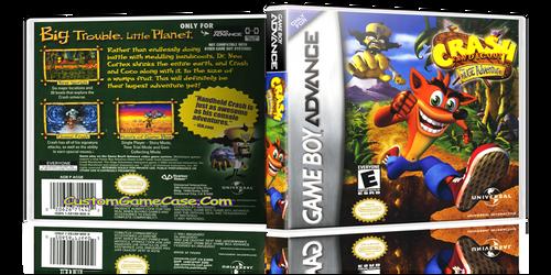 Crash Bandicoot The Huge Adventure - Gameboy Advance GBA - Empty Custom Replacement Case