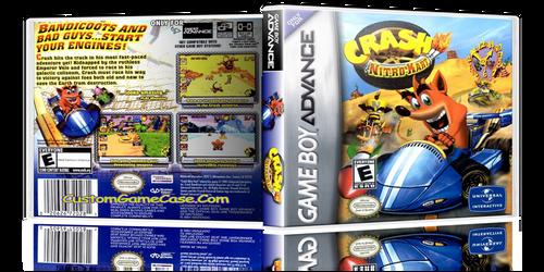 Crash Bandicoot Nitro Kart - Gameboy Advance GBA - Empty Custom Replacement Case