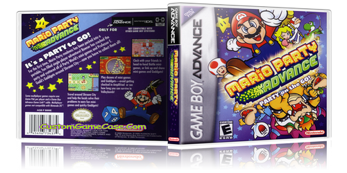 Mario Party Advance  - Gameboy Advance GBA - Empty Custom Replacement Case