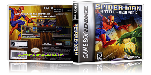 Spider-Man Battle for New York  - Gameboy Advance GBA - Empty Custom Replacement Case