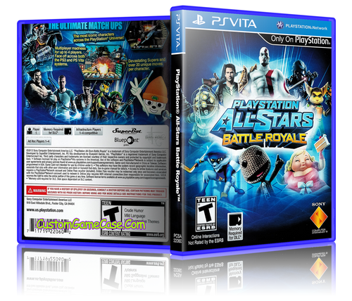 All-Stars Battle Royale - Sony PlayStation PS Vita - Empty Custom Replacement Case